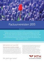 Factuurvereisten 2013 - Meeuwsen Ten Hoopen