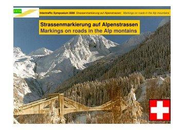 Strassenmarkierung auf Alpenstrassen Markings on ... - winterskov.dk