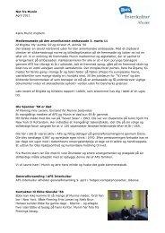 Nyt fra Munin April 2011 Kære Munin medlem ... - AFS Interkultur