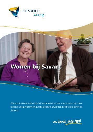 Klik hier om de brochure te downloaden of te openen. - Savant Zorg