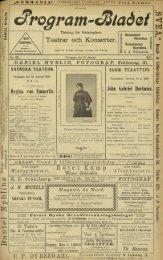 Teatrar och Konserter. P* Regina von Emmeritz. - Doria