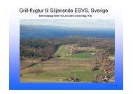 Grill-flygtur til Siljansnäs ESVS, Sverige - Hedmark Flyklubb
