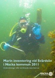 Läs rapporter Marin inventering av Svärdsön i Nacka kommun ...