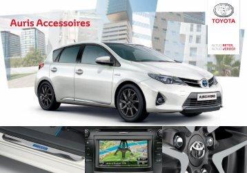 Auris accessoires brochure (belgische versie) - Toyota