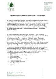 Abschirmung gegenüber Hochfrequenz - Baubiologie Herberg