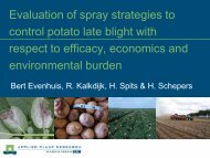 Evaluation of spray strategies to control potato late blight with ...