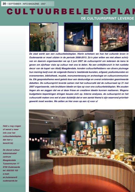tentoonstelling - Stad Oudenaarde