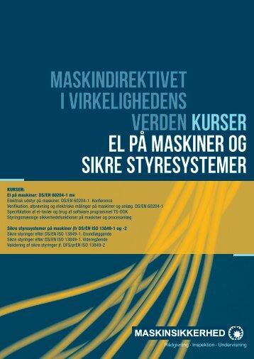 Maskindirektivet i virkelighedens verdenKurser el ... - Maskinsikkerhed