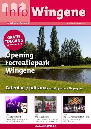 Opening recreatiepark Wingene - Kliek Publishing