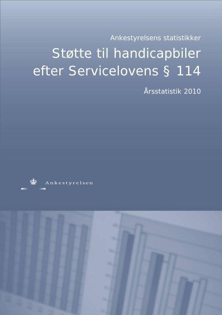 Støtte til handicapbiler efter Servicelovens § 114 - Ankestyrelsen