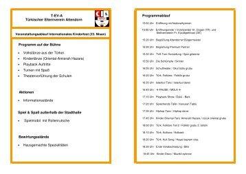 Ablauf Kinderfest 23 Nisan 2011 - Attendorn