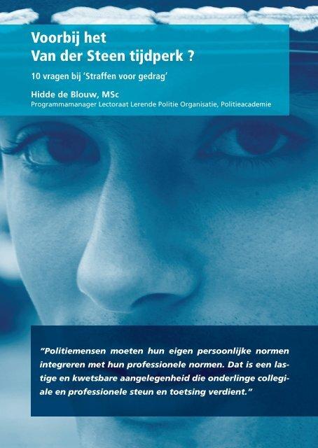 10 vragen bij straffen voor gedrag Bejegening - Politieacademie