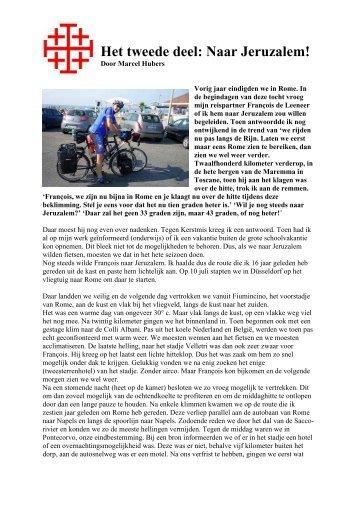 Naar Jeruzalem verslag van Marcel Hubers - TWC Oost-Brabant