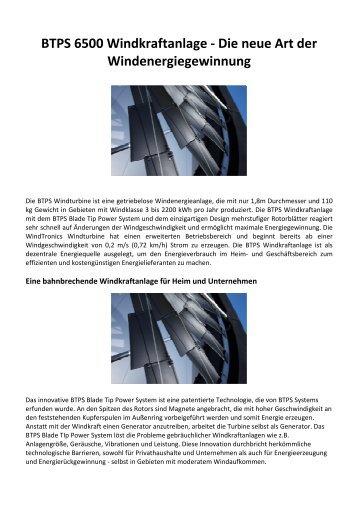 BTPS- Blade Tip Power System-brochure-deutschx - wkgreenusa.com