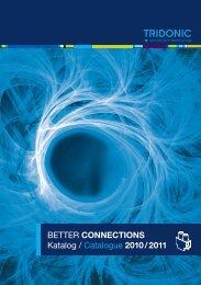 BETTER CONNECTIONS Katalog / Catalogue 2010 / 2011