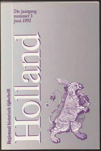24e jaargang nummer 3 juni 1992 - Holland Historisch Tijdschrift