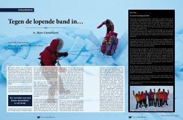 POOLEXPEDITIE Tegen de lopende band in… - Marc Cornelissen