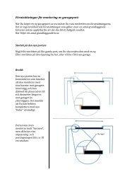 Förutsättningar för montering av garageport: - Garageexperten.com