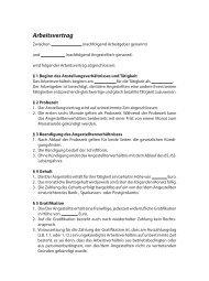Arbeitsvertrag - Der Leitfaden
