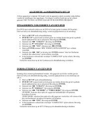 algemene aanwijzingen set 10 finaliseren/ voltooien van een dvd ...