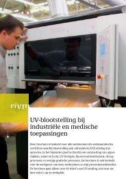 UV-blootstelling bij industriële en medische toepassingen