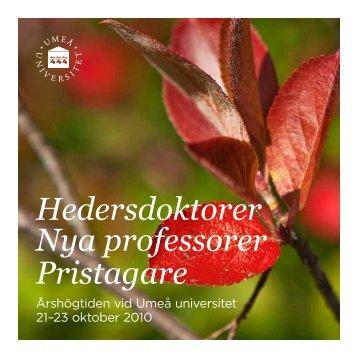 Högtidsskrift - Umeå universitet