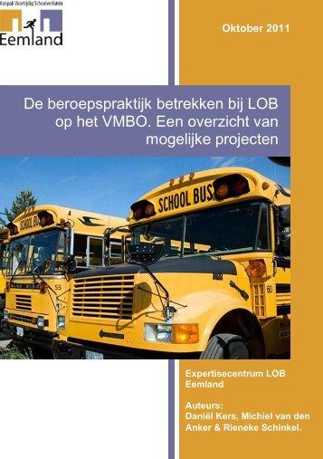 De beroepspraktijk betrekken bij LOB op het VMBO.