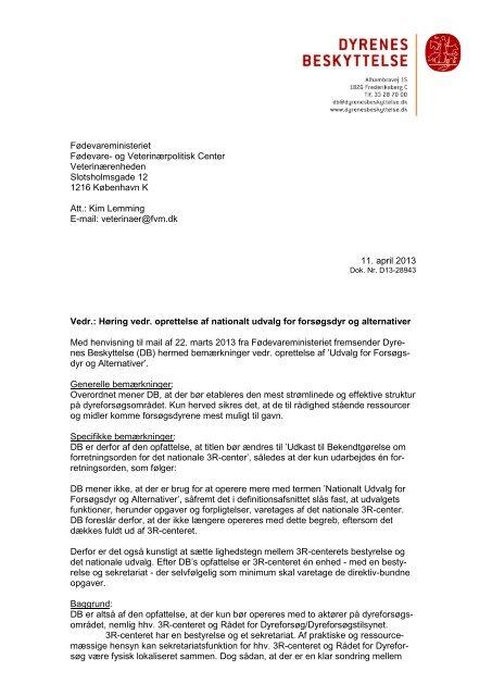 Høring over bekendtgørelse om forretningsorden for det nationale ...