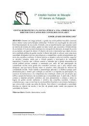 gestão democrática na escola pública - Unioeste