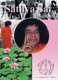 September 2007 - Sri Sathya Sai Baba Seva Organisation
