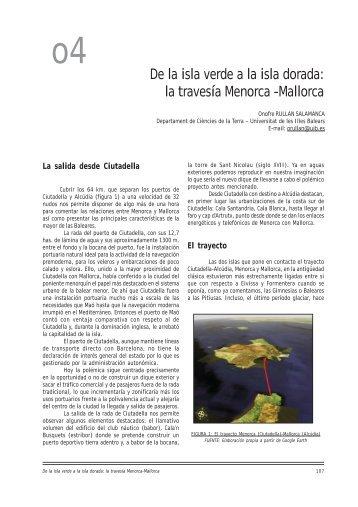 la travesía Menorca -Mallorca - Universitat de les Illes Balears