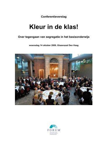 Kleur in de klas! - conferentieverslag 24-10-09 - Forum, Instituut ...
