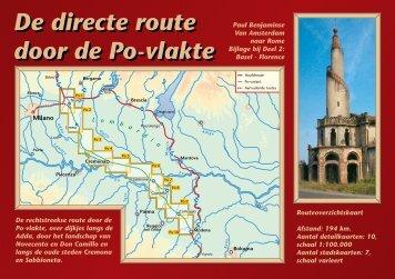 De directe route door de Po-vlakte De directe route door de Po-vlakte