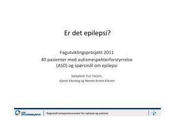Er Det Epilepsi 2 - Oslo universitetssykehus