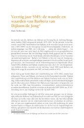 Veertig jaar SMS - Koninklijke Van Gorcum