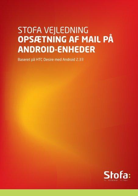 stofa vejledning opsætning af mail på android-enheder