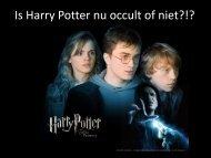 Is Harry Potter nu occult of niet?!?