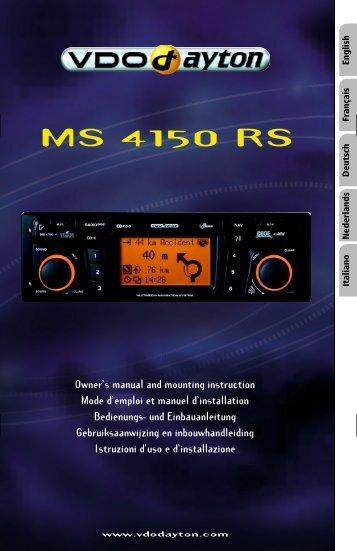 VDO Dayton MS 4150 RS; 3112 316 0929.1; 04/2003