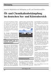Möglichkeiten der Bekämpfung von Öl - SDN