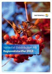Regionnätstariffer 2012 - Vattenfall