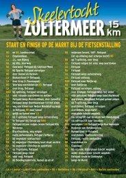 Route 15 km - Floravontuur Promotie Zoetermeer