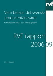 Rapport 2006:09. Vem betalar det svenska ... - Avfall Sverige