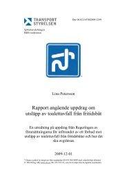 Transportstyrelsens utredning om toalettavfall från fritidsbåtar (PDF)