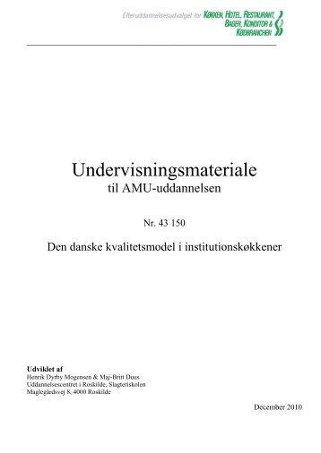 Den danske kvalitetsmodel i institutionskøkkener