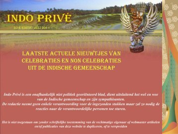 Klik hier voor 37e editie juli 2011 - Indo Privé
