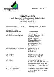 """""""Barrierefreies Leben in Attendorn"""" hier: Zusammenarbeit mit dem"""