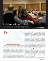 Article in Schmooze Magazine - Kol Hadash Humanistic Congregation