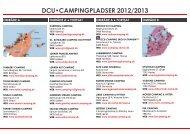 DCU•CAMPINGPLADSER 2012/2013