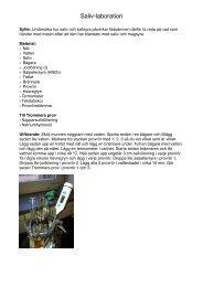 Saliv-laboration - Wordpress Wordpress