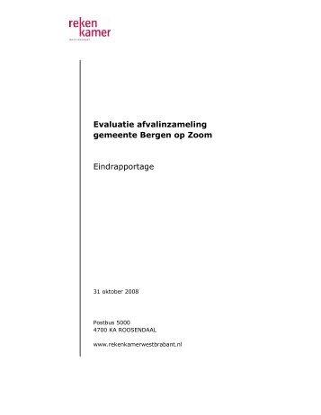 Evaluatie afvalinzameling in Bergen op Zoom - Rekenkamer West ...